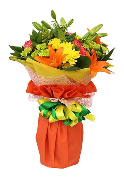 Delightful Orange Hand Tied