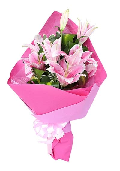 Perfect Pink Lily Bouquet