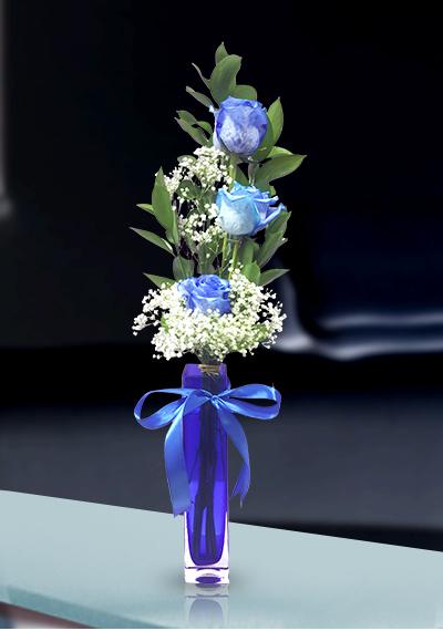 3 Royal Blue Rose