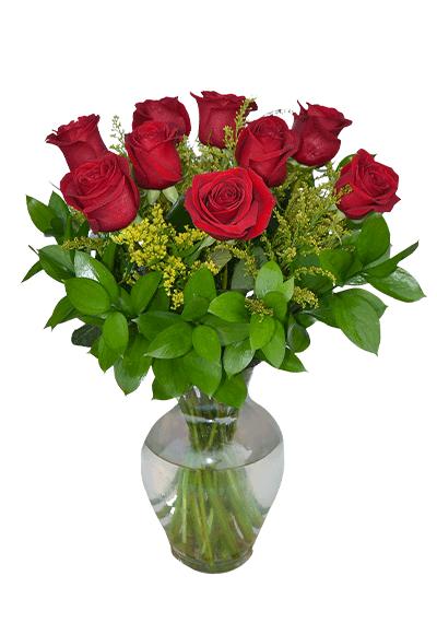 12 Rose in Vase