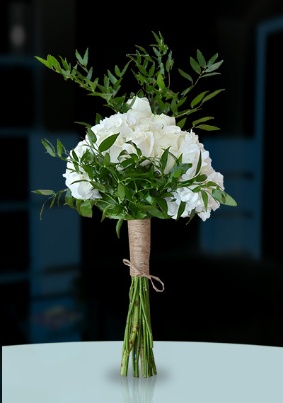 Classical White Hand tied