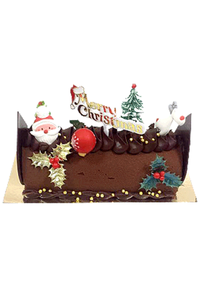 Salivation Christmas log cake