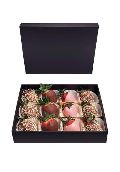 Fancy Strawberries Chocolate Box 12