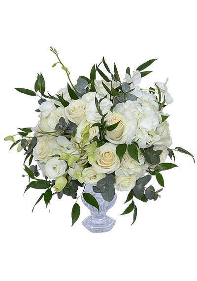 Elegant White Centerpiece