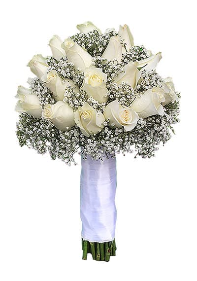 Bridal White Hand Tied
