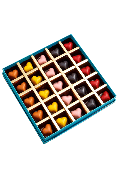 Colorful Heart Chocolates