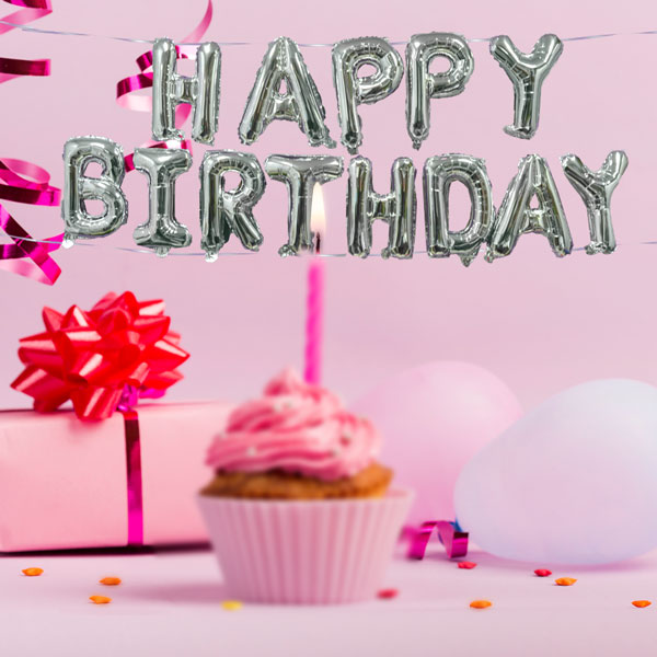 H Birthday Balloon