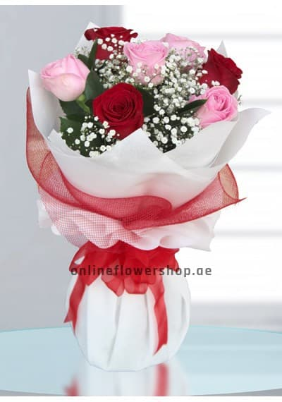 7 Lovely kisses - Red and Pink