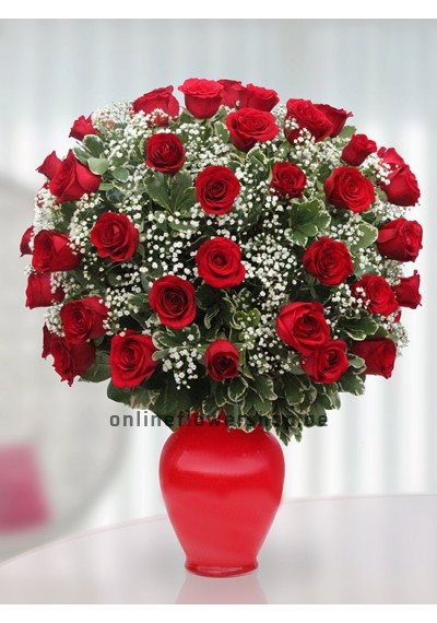Elegant 50 Red Roses