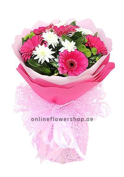 Pink Gerbera Hand Bouquet
