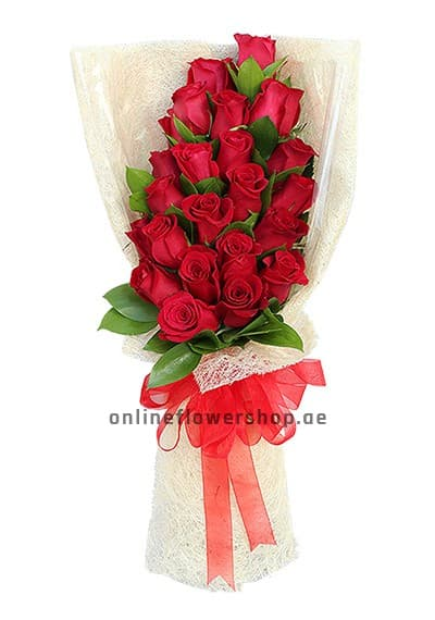 Two Dozen Red Roses Hand Bouquet