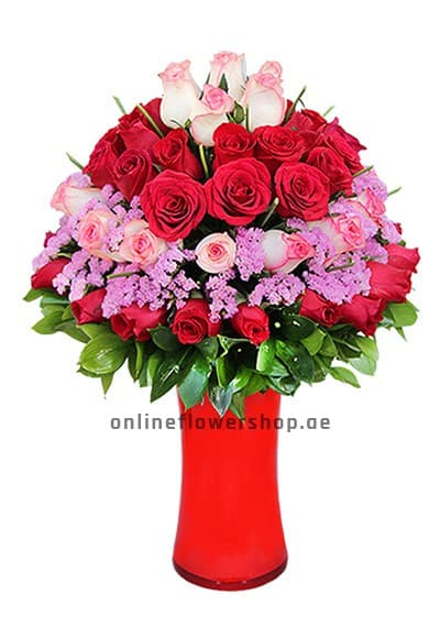 Elegant Pink and Red Bouquet