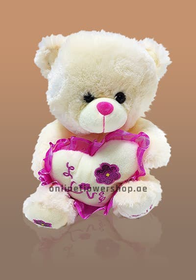 Love Pink Heart Teddy