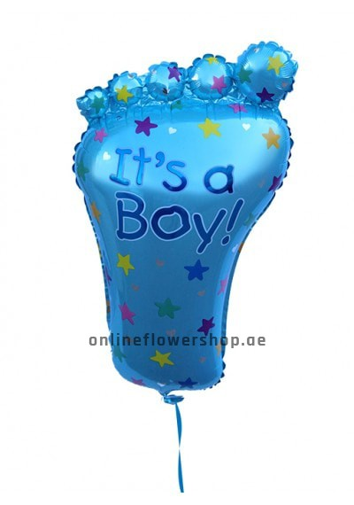 baby boy foot balloon